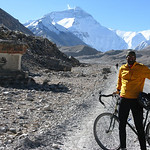 geoff took this picture of me on our 8km ride from rongbuk monastery to the basecamp of the north face of mt.everest.
